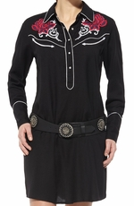 Ariat Womens Long Sleeve Trigger Snap Dress - Black