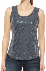 Ariat Womens Sequin Shell Tank Top - Wet Slate