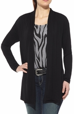 Ariat Womens Zebra Mesh Back Cardigan - Black