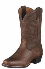 Ariat Youth Legend Cowboy Boots - Brown Oiled Rowdy (Closeout)