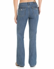 Aura Wrangler Women's Slender Stretch Jean - Dark Denim