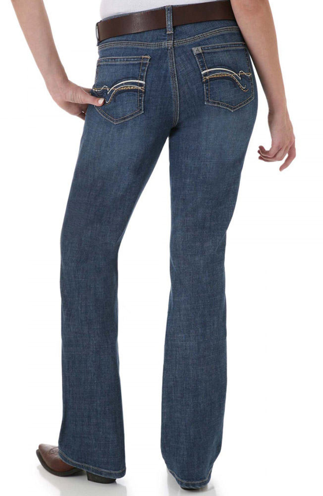 Aura Womens Mid Rise Straight Leg Instantly Slimming Jeans - Blue (Closeout)