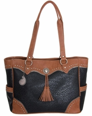 Bandana by American West Women's Breckenridge Tote Bag - Black/Tan