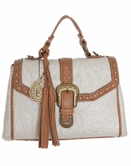 Bandana by American West Women's Castle Rock Convertible Flap Bag - Cream