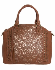 Bandana by American West Women's Mesa Convertible Zip Tote - Tan