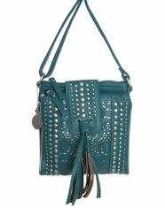 Bandana by American West Women's Mesa Crossbody Bag - Turquoise