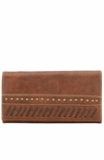 Bandana by American West Womens Cimarron Flap Wallet - Saddle