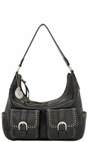 Bandana by American West Womens Cimarron Zip Top Hobo Bag - Graphite (Closeout)