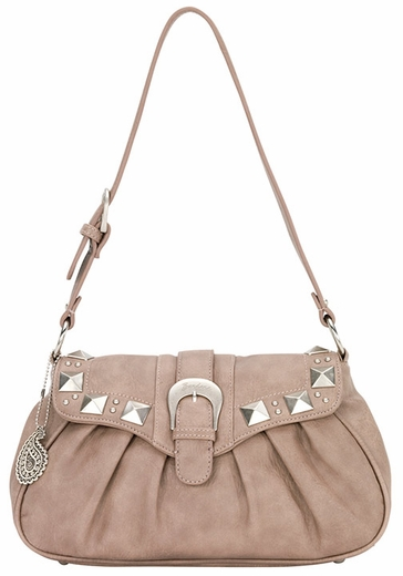 Bandana By American West Womens Houston Flap Shoulder Bag - Soft Rose (Closeout)