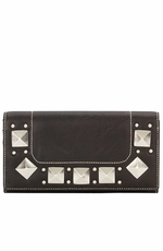 Bandana by American West Womens Houston Flap Wallet - Dark Chocolate