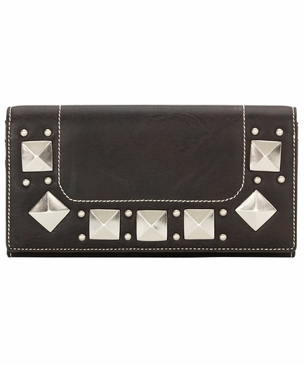 Bandana by American West Womens Houston Flap Wallet - Dark Chocolate (Closeout)