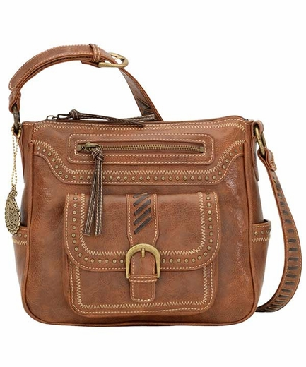 Bandana by American West Zip Top Cimarron Hipster Bag - Saddle