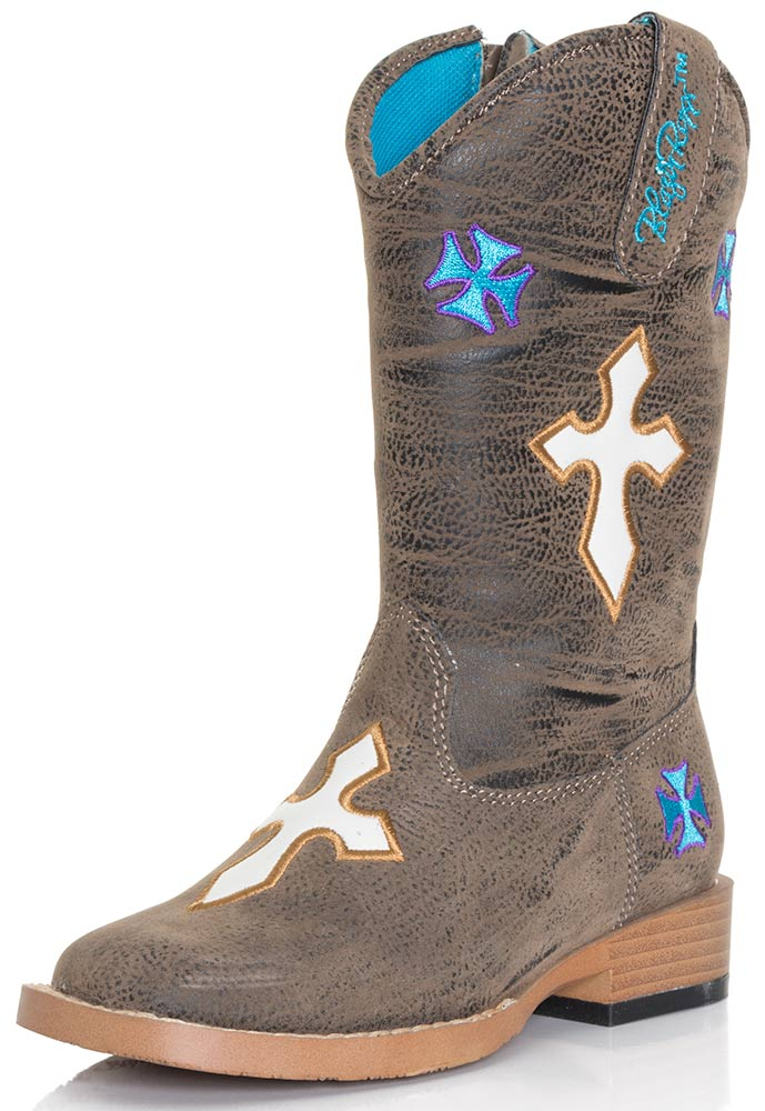 Blazin Roxx Girls Sierra Crosses Zip Boot - Child Sizes (8.5-10)