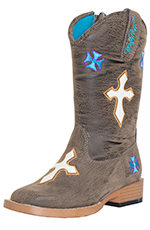 Blazin' Roxx Girls Sierra Crosses Zip Boot - Toddler Sizes (4-8)