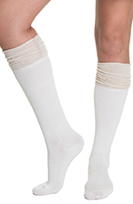 Blazin Roxx Women's Over the Knee Stack Socks - Sparkle Cream