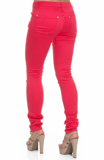 Blue Faith Womens Colored Skinny Jeans - Paradise Pink