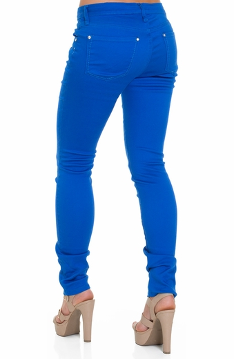 Blue Faith Womens Colored Skinny Jeans - Victoria Blue (Closeout)