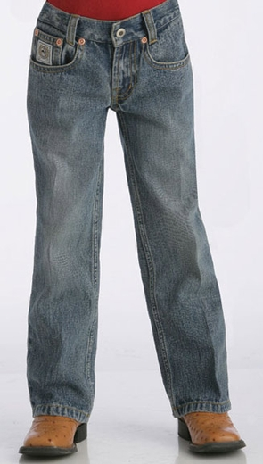 Cinch Boy's White Label Jeans (Sizes 1T-4T) - Light Stonewash (Closeout)