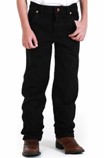 Boys Wrangler Original ProRodeo Jeans (Sizes 1T-7) - Overdyed Black (Closeout)