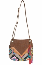 Catchfly Womens Lexi Crossbody Bag - Aztec