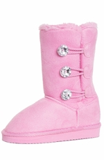 Chattie Girls Jeweled 3 Button Boot - Pink, Purple, Grey or Black