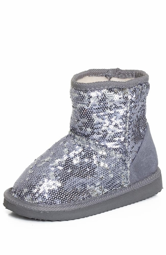 Chattie Toddlers Sequin Boots - Silver, Gold, or Fuchsia (Closeout)