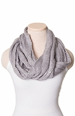 Chattie Womens Sequin Infinity Scarf - Black, Blue, Grey or Pink