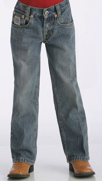 Cinch Boy's White Label Jeans (Sizes 4-7) - Light Stonewash