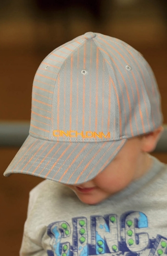 Cinch Boys Logo Cap - Grey/Orange