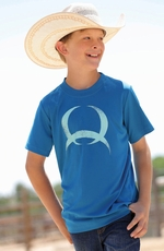 Cinch Boys Short Sleeve Athletic Shirt - Blue