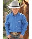 Cinch Boys Solid Twill Button Down Western Shirt - Blue