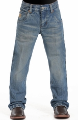 Cinch Boys Tanner Relaxed Fit Boot Cut Jeans (sizes 8-18) - Stonewash