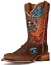 "Cinch Edge Men's ""Blue Bird"" Square Toe Cowboy Boots - Brown"