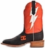 "Cinch Edge Mens ""Bolt"" Square Toe Cowboy Boots - Orange/Black (Closeout)"