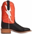 "Cinch Edge Mens ""Bolt"" Square Toe Cowboy Boots - Orange/Black"