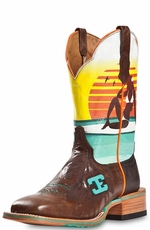 "Cinch Edge Mens ""Cabo"" Square Toe Cowboy Boots"