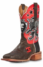 "Cinch Edge Mens ""Leon"" Cowboy Boots - Brown (Closeout)"