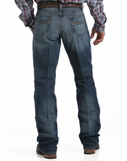 Cinch Men's Carter Performance Mid Rise Relaxed Fit Boot Cut Jeans - Medium Stonewash