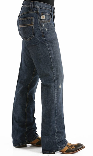 Cinch Men's Carter Relaxed Fit Boot Leg Jeans - Dark Stonewash (Closeout)