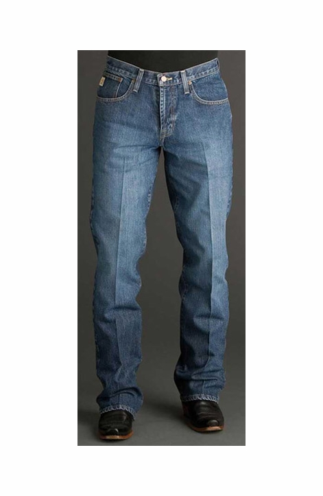 Cinch Men's Dooley Relaxed Fit Boot Cut Jeans - Dark Stonewash
