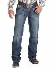 Cinch Men's Grant Mid Rise Relaxed Boot Cut Jean - Medium Stonewash