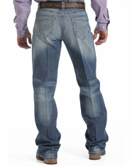 Cinch Men's Grant Mid Rise Relaxed Fit Boot Cut Jean - Medium Stonewash