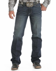 Cinch Men's Grant Relaxed Boot Leg Jeans: Dark Stonewash