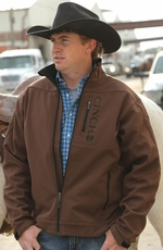 Cinch Men's Long Sleeve Bonded Jacket - Brown