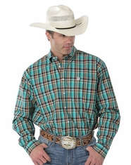 Cinch Men's Long Sleeve Plaid Button Down Shirt - Green