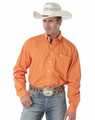 Cinch Men's Long Sleeve Solid Button Down Shirt - Orange
