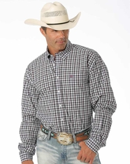 Cinch Men's Long Sleeve Plaid Button Down Shirt - Lilac