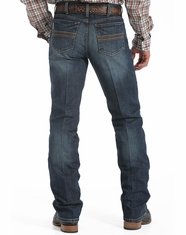 Cinch Men's Silver Label Mid Rise Slim Fit Straight Leg Jean - Dark Stonewash