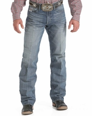 Cinch Men's White Label Relaxed Straight Leg Jeans - Medium Stonewash