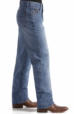 Cinch Mens Black Label Relaxed Fit Jeans with Sandblast - Dark Stonewash